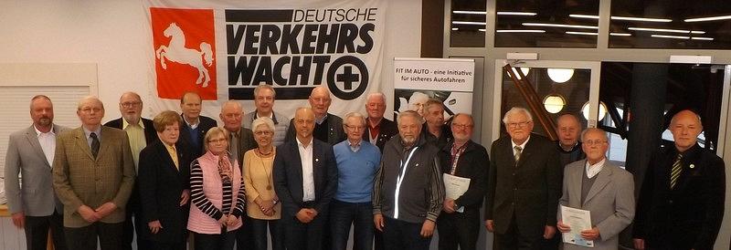 Geehrte Mitglieder©Verkehrswacht Nienburg