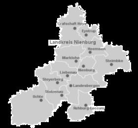 Landkreiskarte©Landkreis Nienburg