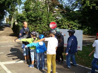 Verkehrsschule Kinder Straße©Verkehrswacht Nienburg